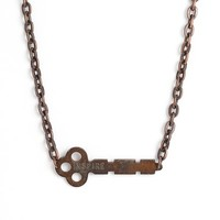 Women's The Giving Keys 'Never Ending' 24-Inch Copper Chain Key Necklace