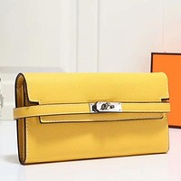 Hermes Women Fashion Leather Envelope Purse Wallet