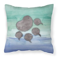 Cat Paw Watercolor Fabric Decorative Pillow BB7356PW1818