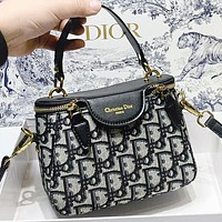 Dior New fashion more letter leather shoulder bag handbag crossbody bag bucket bag