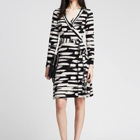 Banana Republic Womens Gemma Brushstroke Wrap Dress