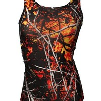 Moon Shine Attitude Attire Wildfire Camo Tank Top