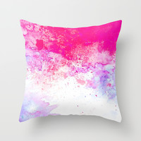 Summer Song #society6 Throw Pillow by 83oranges.com