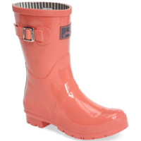 Joules Mid-Height Rain Boots - Coral