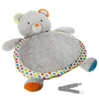 Mary Meyer 41418 Confetti Teddy Baby Mat with Pacifier Clip