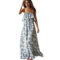 Boho Style Off The Shoulder Maxi dress Sun dress