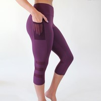 Fierce Capris - Plum