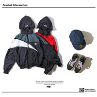 Windbreaker Hats Patchwork Couple Jacket [11412549639]