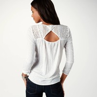 AE Lace Detail T   American Eagle Outfitters