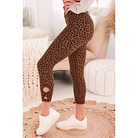 Move It Or Lose It Capri Leopard Leggings (Brown)