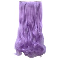 ECOSCO Dip-dye Color One Piece Gorgeous Long Curly Wave Clip in Hair Extension (Light Purple)