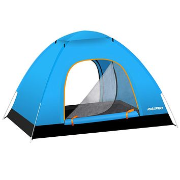 RISEPRO Instant Automatic pop up Camping Tent, 2-3 Persons Lightweight Tent, Waterproof Windproof, UV Protection, Perfect for Beach, Outdoor, Traveling,Hiking,Camping, Hunting, Fishing
