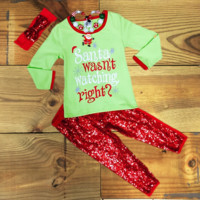 """""""Santa Wasn't Watching Right?"""" Christmas Outfit"""