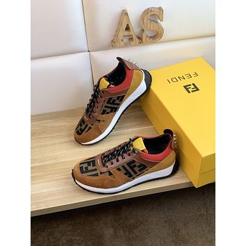 FENDI 2021 Men Fashion Boots fashionable Casual leather Breathable Sneakers Running Shoes10120wk
