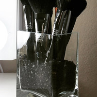 Glass Makeup Brush Holder