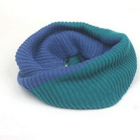 Mix Color Neck Warmer Knit Scarf