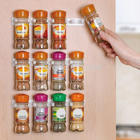Spice Rack Spice Wall Storage Plastic Kitchen Organizer Rack 12 Cabinet Door Hooks 3PCS/SET Kitchen Accessories S002