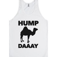 Hump Day (Camel)-Unisex White Tank