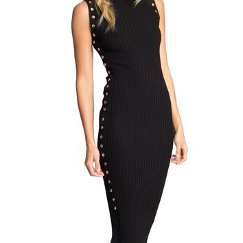 Lexy Ribbed Knit Midi Dress