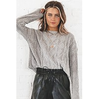 Live Your Life Gray Chenille Sweater