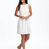 Embroidered Swing Dress for Women   Old Navy