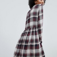 Only Ester Check Skater Dress at asos.com