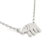 Sterling Silver Mini Elephant Necklace