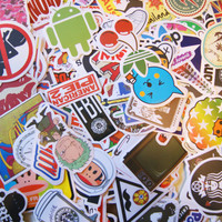 20 PCS Random Mixed Laptop Skateboard Guitar Decoration Graffiti Stickers Pack Lot 20 pieces