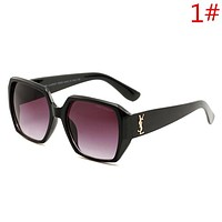 YSL Fashion New Sunglasses Women Men Sunscreen Eyeglasses Glasses