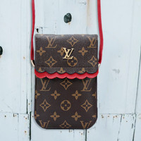 LV Louis Vuitton Trending Women Shopping Leather Crossbody Satchel Shoulder Bag Mobile Phone Package