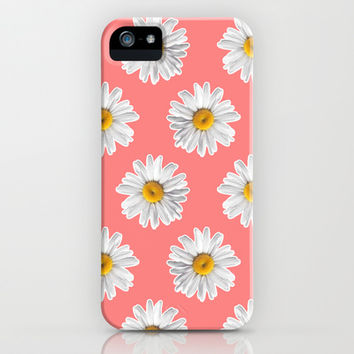 Daisies & Peaches - Daisy Pattern on Pink iPhone & iPod Case by Tangerine-Tane | Society6