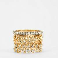 Sculpted Cocktail Ring - Set Of 3 - Urban Outfitters