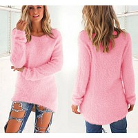 CUTE OVERSIZE PULLOVER SWEATER