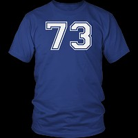 Men's Vintage Sports Jersey Number 73 T-Shirt for Fan or Player #73