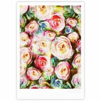 "Dawid Roc ""Pastel Rose Romantic Gifts"" Green Photography Fine Art Gallery Print"