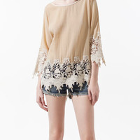 COMBINED GUIPURE LACE TOP