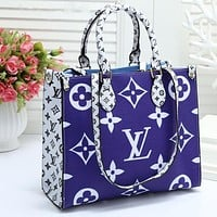 Onewel LV Bag Louis Vuitton Bag ONTHEGO Monogram double color bag Blue