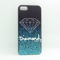 Generic Fashion Diamond Quotes Black Sides Slim Hard Plastic Case for Apple Iphone 5 5s