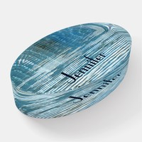 Abstract Reflection Glass Paperweight