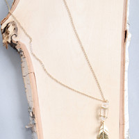 Wrapped Crystal Necklace Clear