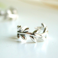 Olive Leave Sterling Ring .925 Silver Ring Victory Symbol
