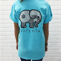 2016 New Summer Style ivory ella Women T Shirts Cotton Cartoon Elephant Print Casual Women Tshirt Tops