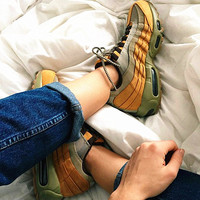 NIKE Air max  Sneakers Running Sports Shoes Brown-yellow  H-CSXY