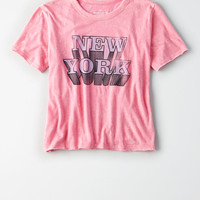 AE NYC Graphic Tee, Pink