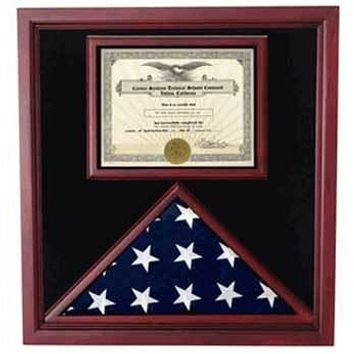 Flag Connections Extra Large Award & Flag Display Case, 3x5 flag