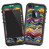"""Wavy Paint Swirls """"Protective Decal Skin"""" for LifeProof fre iPhone 5/5s Case"""