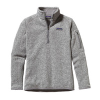 Patagonia Women's Better Sweater Quarter Zip Pullover- Birch White