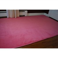 Microfiber Dorm Rug - Cherry Pink Cheap College Rugs Soft Comfortable Feet Floors Items