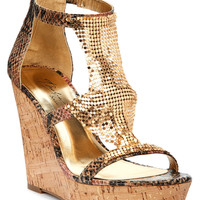 THALIA SODI SAUCO PLATFORM WEDGE SANDALS NATURAL PINK MULTI 7.5M