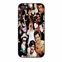 Harry Styles One Direction Collage Clothes Off iPhone 5 Case